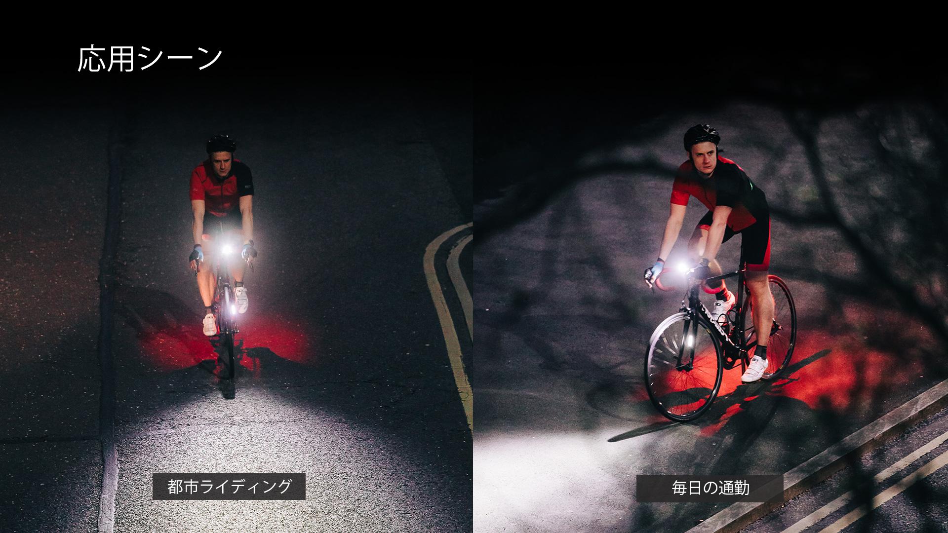 RN400は、通学/通勤、サイクリング、サイクリング競技、暗闇でのライディングのための道路の照明などのシーンに適しています。