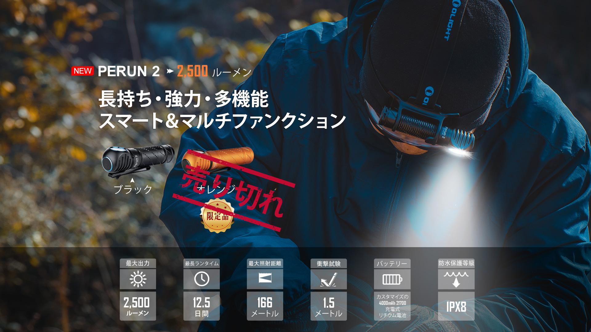 perun 2は、分解可能な多機能ヘッドランプ懐中電灯で、仕事、釣り、登山などのアクティビティに適しています。